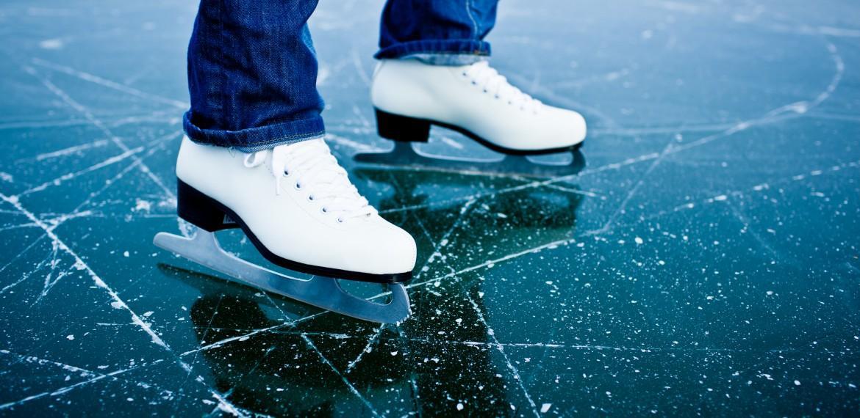 Ice skating and ice hockey